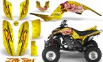 Yamaha Raptor 660 CreatorX Graphics Kit Little Sins Yellow 150x90 - Yamaha Raptor 660 Graphics