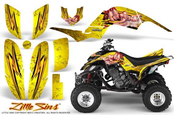 Yamaha Raptor 660 CreatorX Graphics Kit Little Sins Yellow 570x376 - Yamaha Raptor 660 Graphics