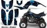 Yamaha Raptor 660 CreatorX Graphics Kit Skull Chief Blue 150x90 - Yamaha Raptor 660 Graphics
