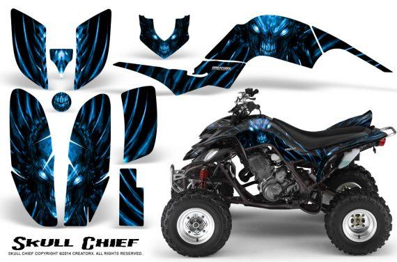 Yamaha Raptor 660 CreatorX Graphics Kit Skull Chief Blue 570x376 - Yamaha Raptor 660 Graphics