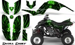 Yamaha Raptor 660 CreatorX Graphics Kit Skull Chief Green 150x90 - Yamaha Raptor 660 Graphics
