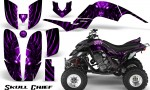 Yamaha Raptor 660 CreatorX Graphics Kit Skull Chief Purple 150x90 - Yamaha Raptor 660 Graphics