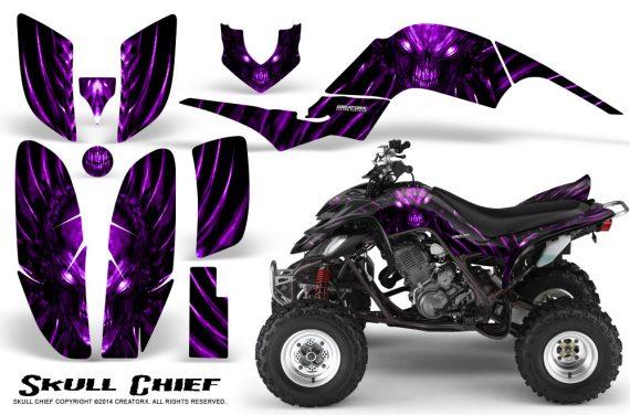 Yamaha Raptor 660 CreatorX Graphics Kit Skull Chief Purple 570x376 - Yamaha Raptor 660 Graphics