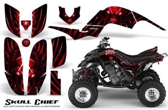 Yamaha Raptor 660 CreatorX Graphics Kit Skull Chief Red 570x376 - Yamaha Raptor 660 Graphics
