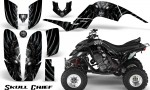 Yamaha Raptor 660 CreatorX Graphics Kit Skull Chief Silver 150x90 - Yamaha Raptor 660 Graphics