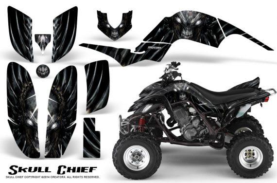 Yamaha Raptor 660 CreatorX Graphics Kit Skull Chief Silver 570x376 - Yamaha Raptor 660 Graphics