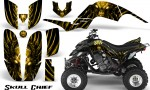 Yamaha Raptor 660 CreatorX Graphics Kit Skull Chief Yellow 150x90 - Yamaha Raptor 660 Graphics