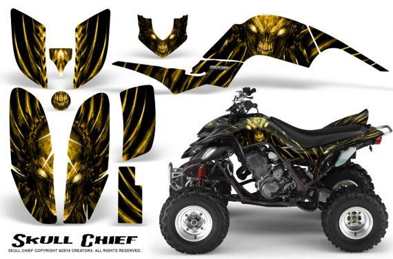 Yamaha Raptor 660 CreatorX Graphics Kit Skull Chief Yellow 570x376 - Yamaha Raptor 660 Graphics