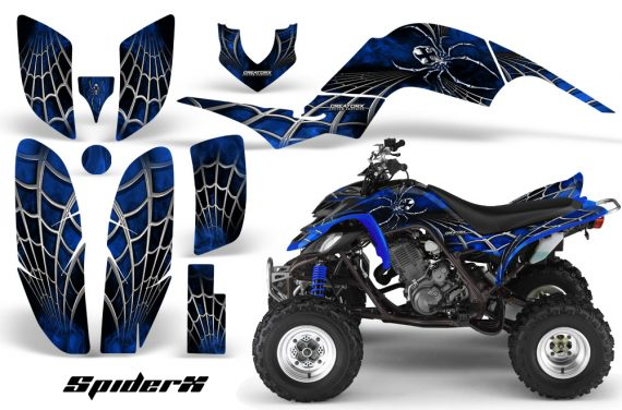 Yamaha Raptor 660 CreatorX Graphics Kit SpiderX Blue 570x376 - Yamaha Raptor 660 Graphics