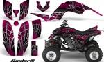 Yamaha Raptor 660 CreatorX Graphics Kit SpiderX Pink 150x90 - Yamaha Raptor 660 Graphics
