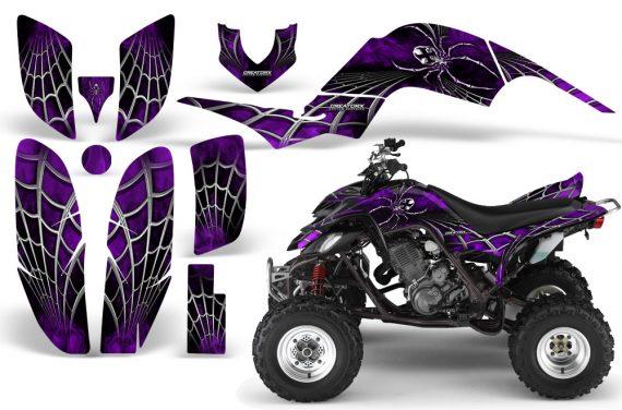 Yamaha Raptor 660 CreatorX Graphics Kit SpiderX Purple 570x376 - Yamaha Raptor 660 Graphics
