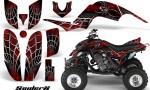 Yamaha Raptor 660 CreatorX Graphics Kit SpiderX Red BB 150x90 - Yamaha Raptor 660 Graphics
