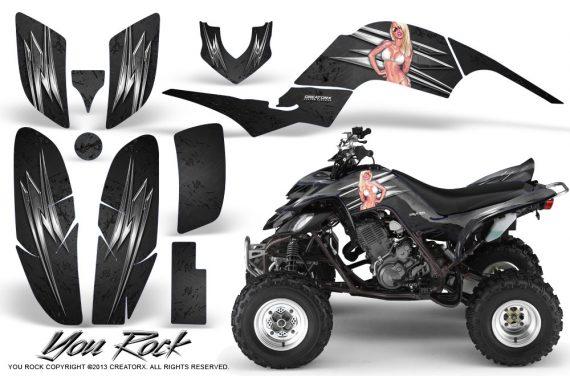 Yamaha Raptor 660 CreatorX Graphics Kit You Rock Black 570x376 - Yamaha Raptor 660 Graphics