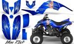 Yamaha Raptor 660 CreatorX Graphics Kit You Rock Blue 150x90 - Yamaha Raptor 660 Graphics