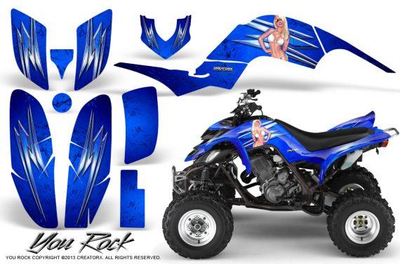 Yamaha Raptor 660 CreatorX Graphics Kit You Rock Blue 570x376 - Yamaha Raptor 660 Graphics