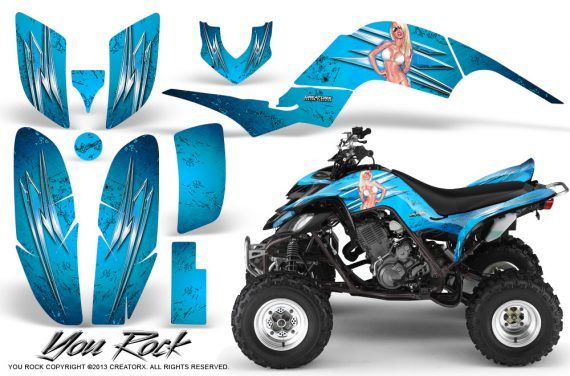 Yamaha Raptor 660 CreatorX Graphics Kit You Rock BlueIce 570x376 - Yamaha Raptor 660 Graphics