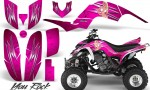 Yamaha Raptor 660 CreatorX Graphics Kit You Rock Pink 150x90 - Yamaha Raptor 660 Graphics