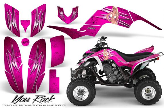 Yamaha Raptor 660 CreatorX Graphics Kit You Rock Pink 570x376 - Yamaha Raptor 660 Graphics
