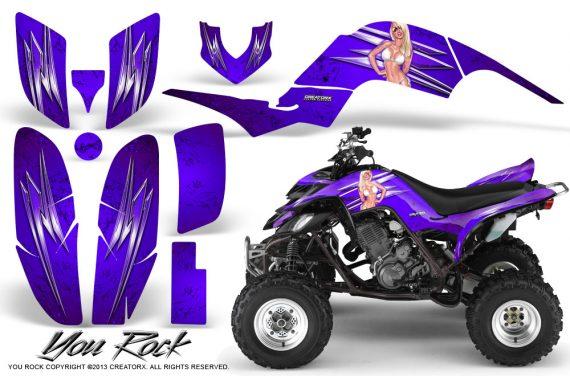 Yamaha Raptor 660 CreatorX Graphics Kit You Rock Purple 570x376 - Yamaha Raptor 660 Graphics