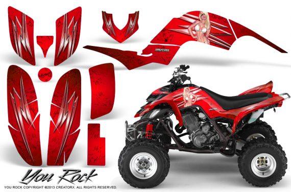 Yamaha Raptor 660 CreatorX Graphics Kit You Rock Red 570x376 - Yamaha Raptor 660 Graphics