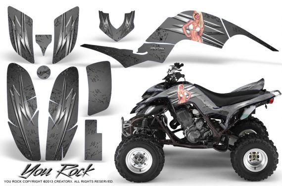 Yamaha Raptor 660 CreatorX Graphics Kit You Rock Silver 570x376 - Yamaha Raptor 660 Graphics