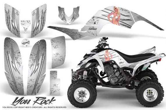 Yamaha Raptor 660 CreatorX Graphics Kit You Rock White 570x376 - Yamaha Raptor 660 Graphics