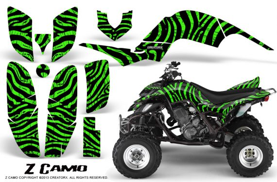Yamaha Raptor 660 CreatorX Graphics Kit ZCamo Green BB 570x376 - Yamaha Raptor 660 Graphics