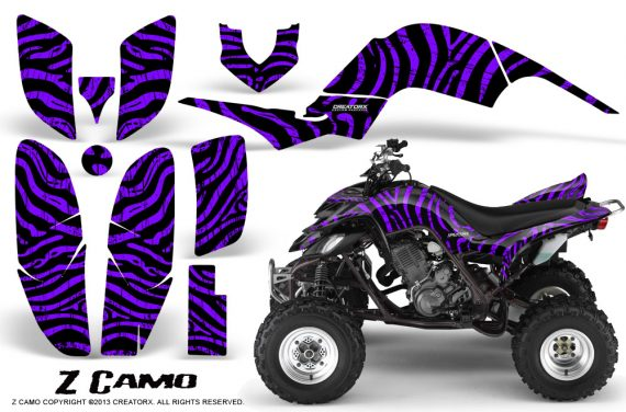Yamaha Raptor 660 CreatorX Graphics Kit ZCamo Purple 570x376 - Yamaha Raptor 660 Graphics