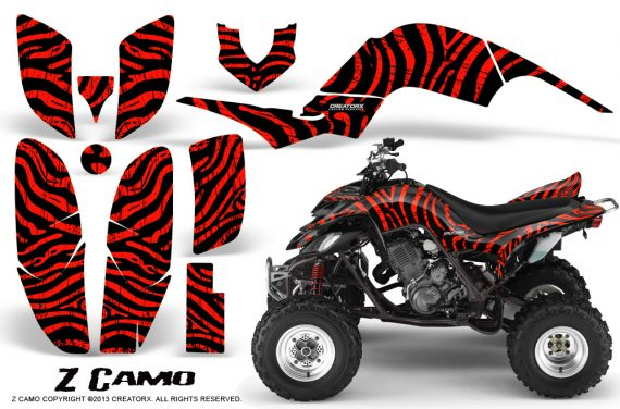 Yamaha Raptor 660 CreatorX Graphics Kit ZCamo Red 570x376 - Yamaha Raptor 660 Graphics