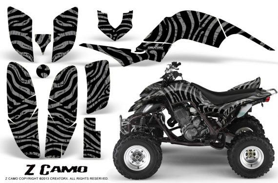 Yamaha Raptor 660 CreatorX Graphics Kit ZCamo Silver 570x376 - Yamaha Raptor 660 Graphics
