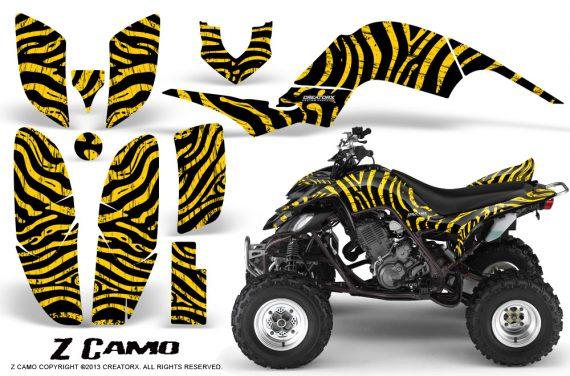 Yamaha Raptor 660 CreatorX Graphics Kit ZCamo Yellow 570x376 - Yamaha Raptor 660 Graphics