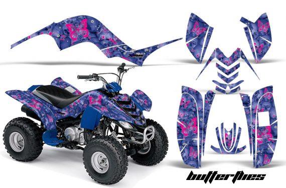 Yamaha Raptor 80 AMR Graphic Kit Butterflies Pink Blue 570x376 - Yamaha Raptor 80 Graphics