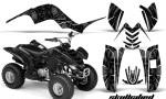 Yamaha Raptor 80 CreatorX Graphics Kit Skullcified Black 150x90 - Yamaha Raptor 80 Graphics