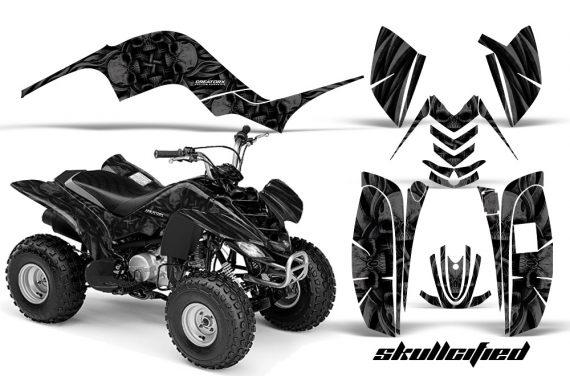 Yamaha Raptor 80 CreatorX Graphics Kit Skullcified Black 570x376 - Yamaha Raptor 80 Graphics
