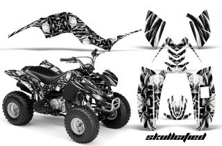 Yamaha Raptor 80 CreatorX Graphics Kit Skullcified Silver BB 320x211 - Yamaha Raptor 80 Graphics