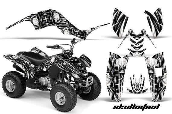 Yamaha Raptor 80 CreatorX Graphics Kit Skullcified Silver BB 570x376 - Yamaha Raptor 80 Graphics