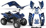 Yamaha Raptor 80 CreatorX Graphics Kit SpiderX Blue 150x90 - Yamaha Raptor 80 Graphics