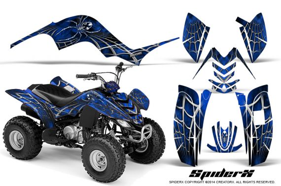 Yamaha-Raptor-80-CreatorX-Graphics-Kit-SpiderX-Blue