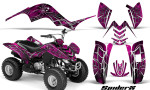 Yamaha Raptor 80 CreatorX Graphics Kit SpiderX Pink 150x90 - Yamaha Raptor 80 Graphics
