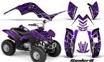 Yamaha Raptor 80 CreatorX Graphics Kit SpiderX Purple 150x90 - Yamaha Raptor 80 Graphics