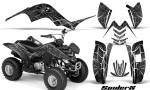 Yamaha Raptor 80 CreatorX Graphics Kit SpiderX Silver 150x90 - Yamaha Raptor 80 Graphics