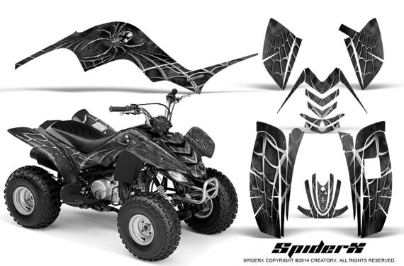 Yamaha-Raptor-80-CreatorX-Graphics-Kit-SpiderX-Silver