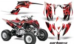 Yamaha Raptor YFM700R 2013 AMR Graphics Kit CarbonX Red 150x90 - Yamaha Raptor 700 2013-2018 Graphics