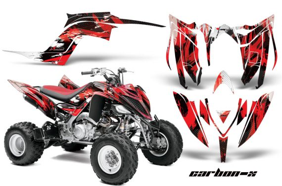 Yamaha Raptor YFM700R 2013 AMR Graphics Kit CarbonX Red 570x376 - Yamaha Raptor 700 2013-2018 Graphics