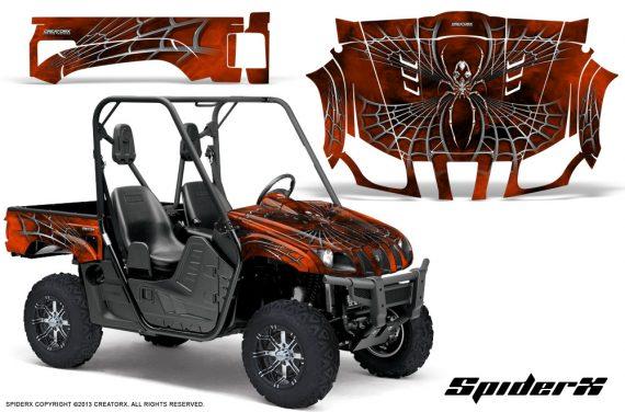 Yamaha Rhino CreatorX Graphics Kit SpiderX OrangeDark 570x376 - Yamaha Rhino 700/660/450 Graphics