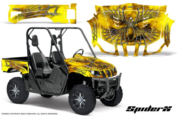 Yamaha Rhino CreatorX Graphics Kit SpiderX Yellow 570x376 - Yamaha Rhino 700/660/450 Graphics