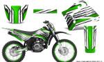 Yamaha TTR125 CreatorX Graphics Kit Chromium Green BB NP Rims 150x90 - Yamaha TTR125 2000-2019 Graphics