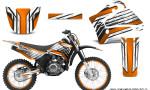 Yamaha TTR125 CreatorX Graphics Kit Chromium Orange BB NP Rims 150x90 - Yamaha TTR125 2000-2019 Graphics