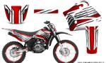 Yamaha TTR125 CreatorX Graphics Kit Chromium Red BB NP Rims 150x90 - Yamaha TTR125 2000-2019 Graphics