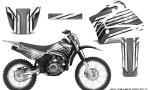 Yamaha TTR125 CreatorX Graphics Kit Chromium Silver BB NP Rims 150x90 - Yamaha TTR125 2000-2019 Graphics